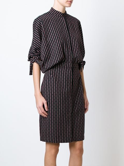 patterned cocoon dress