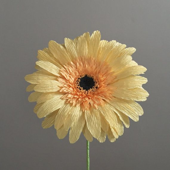 Crepe Paper Gerber Daisy Single Stem  Wedding by NectarHollow