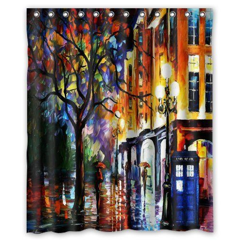 I want this Doctor Who bathroom curtain!