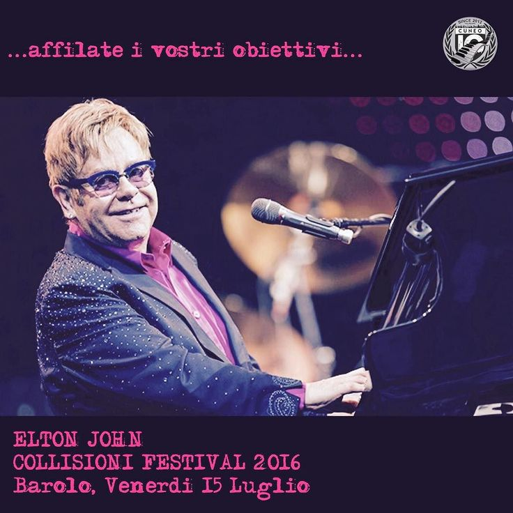 Elton John aprirà Collisioni Festival 2016 Affilate i vostri obiettivi... #CollisioniFestival #Collisioni16 #Agrirock #igworldclub #ig_europa #ig_piemonte #profilodigitale #ig_italia_ #shotaward #phototag_it #insta_international #piueventi #exploringitaly #cuneo #langhe #roero #occitania #barolo #popmusic #eltonjohn #concert #music #livemusic #concerti #summer2016 by ig_cuneo_