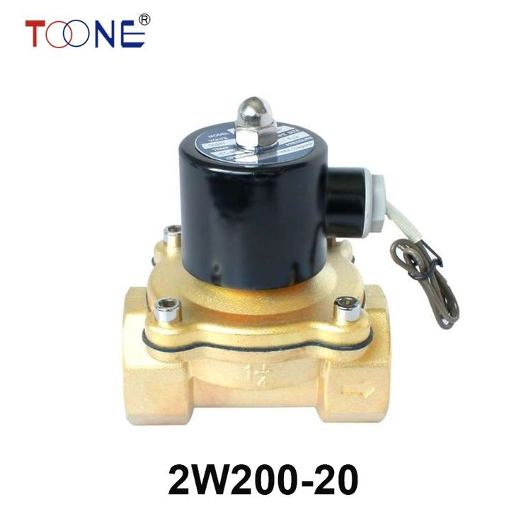 "26.05$  Know more  - ""2W200-20 3/4"""" 2 Way Solenoid Calve Gas Diesel Oil Normal Closed Direct Brass Valve 220VAC 110VAC 24VDC 12VDC"""
