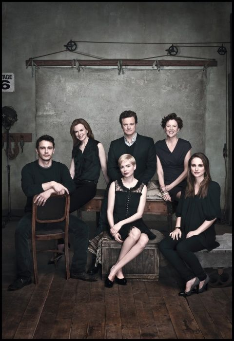 James Franco, Nicole Kidman, Michelle Williams, Colin Firth, Annette Bening & Natalie Portman - 2011 Newsweek Oscar Roundtable by Dan Winters