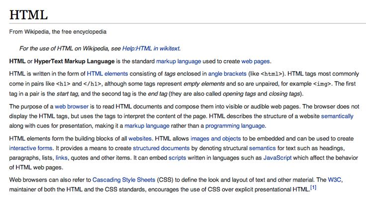 HTML or HyperText Markup Language is the standard markup language used to create web pages.