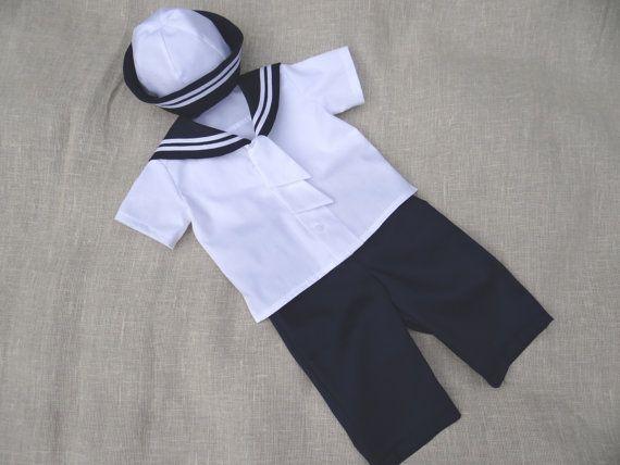 Baby jungen Matrosen Outfit Taufe Hochzeit Ringträger von Graccia