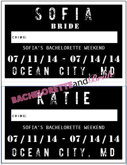 Bachelorette Party Signs Custom Mug Shots by BacheloretteandBride