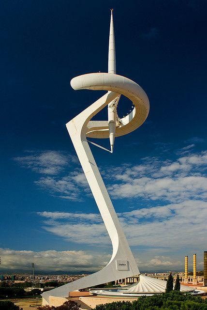 Torre de telecomunicaciones, anillo olímpico, Barcelona