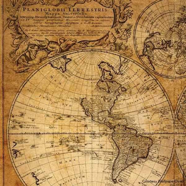 steampunk map wallpaper - photo #17