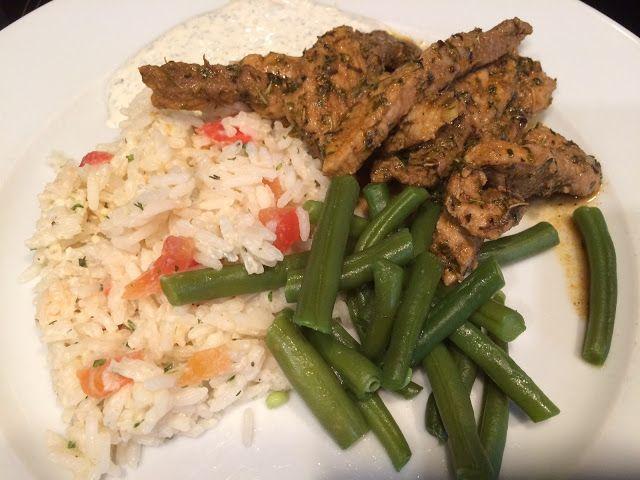 Lekker eten met Marlon: Gyros, romige rijst en sperziebonen gemaakt met mi...