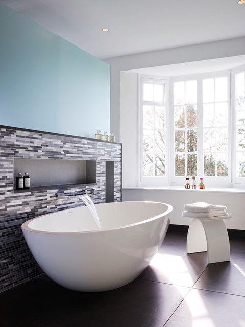 Waterfall Tub Faucet Bathroom Contemporary With Bath Filler Bathroom Design  Bathroom Design Ideas Bathroom Flooring