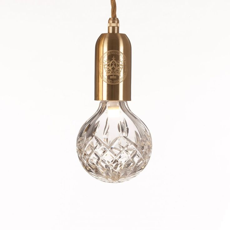 Lee Broom Clear Crystal Bulb Pendant Dimensions W H Materials Lead Brushed Brass Gold Fabric Cable Length Longer Version On Request
