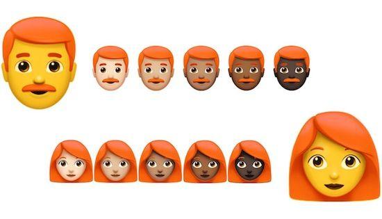 Emoji-team komt op voor de roodharigen