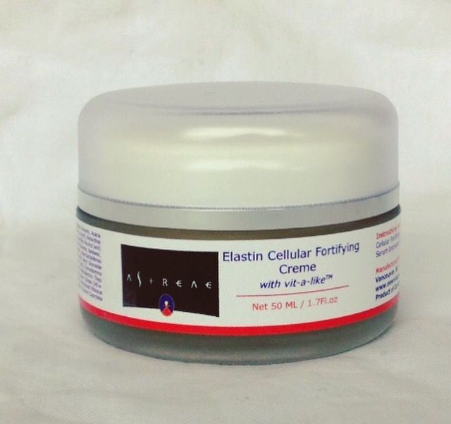 Elastin Cellular    Fortifying cream with natural ingredients and firming peptides. A 4-in-1 solution for devitalized skin targeting enzymes that regulate the aging process. It ifights against the degradation of the skins elastic fiber network. Elastin production is significantly boosted and protected from glycation which results in rigidification and loss of vitality. A powerful, non-retinol exfoliant, accelerates epidermal turnover significantly stimulating growth factors and fibroblast…
