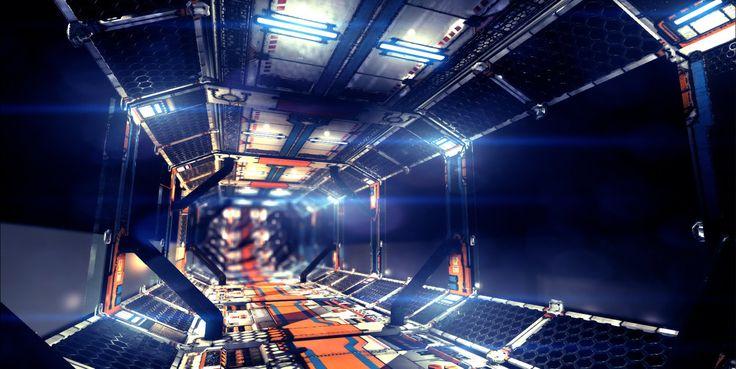 Sci Fi Corridor v2 by samdrewpictures ( http://www.deviantart.com/morelikethis/artists/348805451?view_mode=2, 2013 )