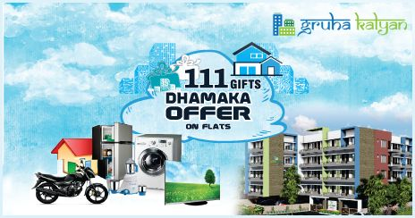 GRUHAKALYAN 111 GIFTS DHAMAKA OFFER ON FLATS / APARTMENTS BEST CUSTOMER SERVICES , NO PRE EMI , NO DEPOSIT CHARGES. CALL: 8494921641 ,7338667107 , 7338667134 , 7353756472