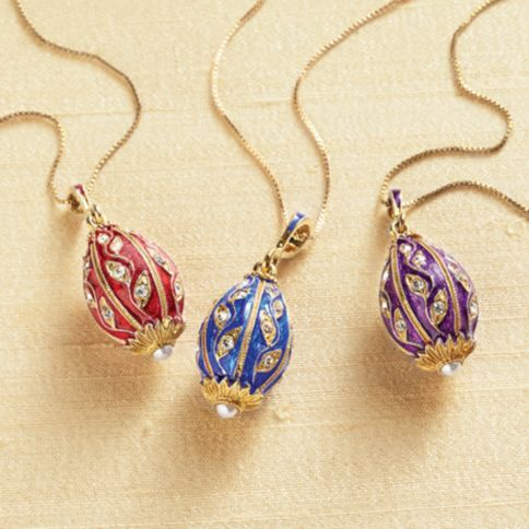 Russian jewelers now working in the United States create these small treasures inspired by the jeweled eggs made by Peter Carl Faberge in the late 19th century.