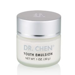 Dr. Chen® Youth Emulsion represents the next generation of Sunrider's age-defying skin care line. Key ingredients such as resveratrol, peptides, and vitamins A, E, and B5 help combat the signs of photo-aging and environmental damage while softening and smoothing the appearance of wrinkles.Inspired by DNA research, this formula features stem cells derived from a rare Swiss apple and a French grape to help restore and maintain youthful-looking skin.