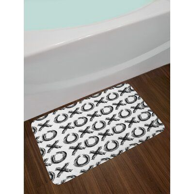 East Urban Home Abstract Xo Bath Rug Bath Mat Sets