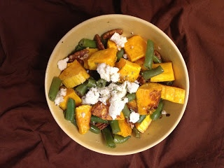 Roasted Butternut and Green Bean Hash