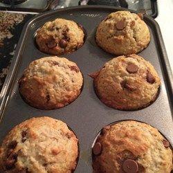 Muffins bananes, avoine et pépites de chocolat @ http://qc.allrecipes.ca