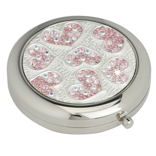 Vanity Fair Multi Use Crystal Compact Mirror - With Love £22.49 - The Wedding Gift Company