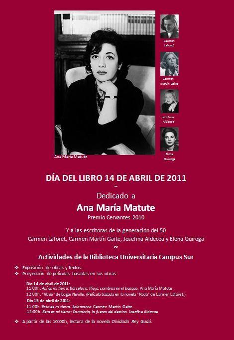 Día del Libro 2011 | Dedicado a Ana María Matute |