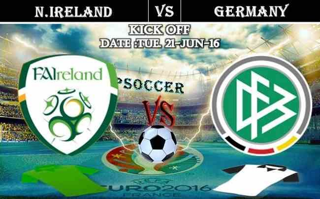N.Ireland vs Germany 21.06.2016 Free Soccer Predictions, head to head, preview, predictions score, predictions under/over EURO 2016 Cup Group Stages