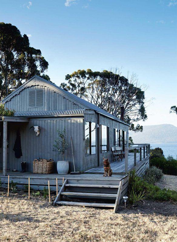 """Déco """"bord de mer"""" : Maison retraite sur une île privative en Tasmanie"""