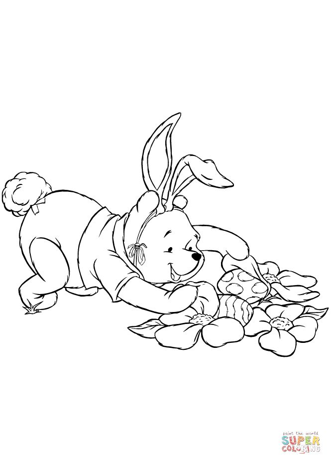 Winnie the Pooh is Hunting Fro Easter Eggs   Super ...