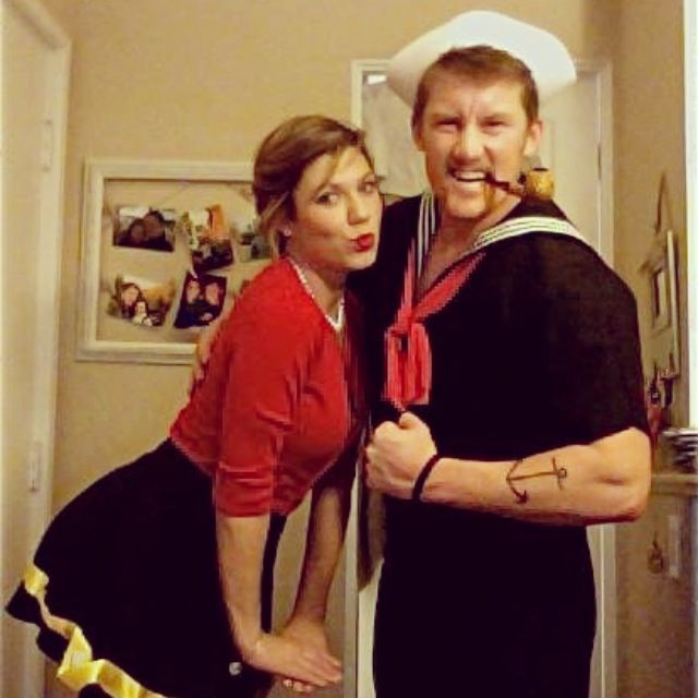 Halloween Couples costume! Popeye and Olive Oil! Sailor man love  sc 1 st  Pinterest & 11 best Awesome Images images on Pinterest | Cosplay ideas Costumes ...