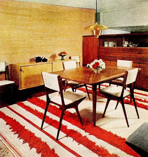 1950s interior design. easily maintained kitchen retro kitchen