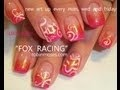 fox racing nails on pink gradient :D nail art by robin moses