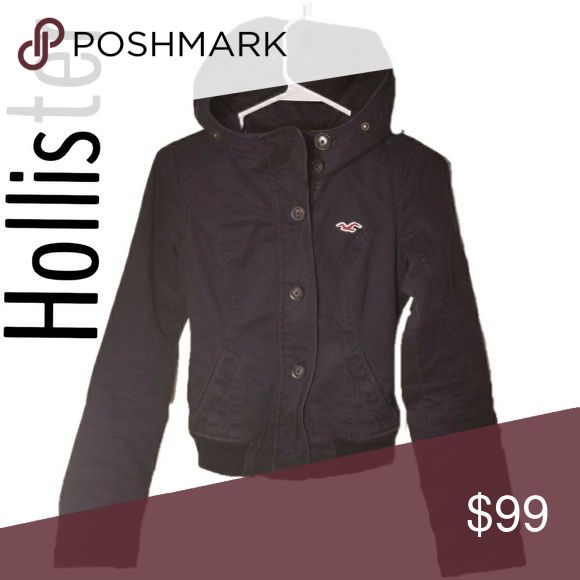 Hollister Coat Black Hollister Coat Hollister Jackets & Coats