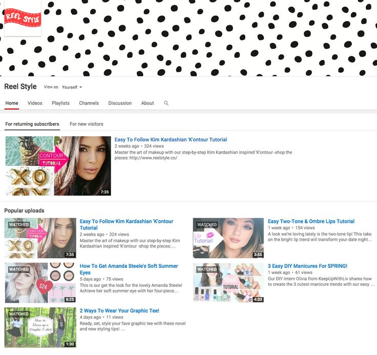 Check us out on #YouTube for all of your #Beauty #Fashion & #DIY tutorials in one cool place!