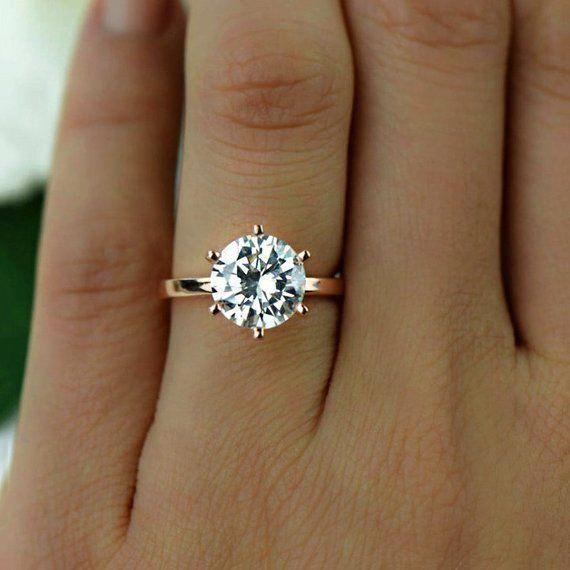 Diamond Wedding Band 14k Solid Gold Stackable Diamond Eternity