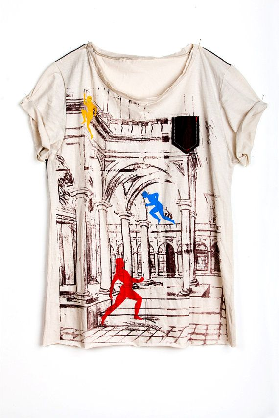 Handmade clothing with artistic view of fashion by MarinaValery.
