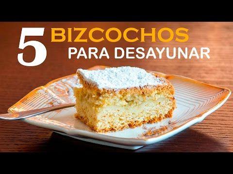 (153) 5 BIZCOCHOS caseros fáciles para el desayuno - YouTube