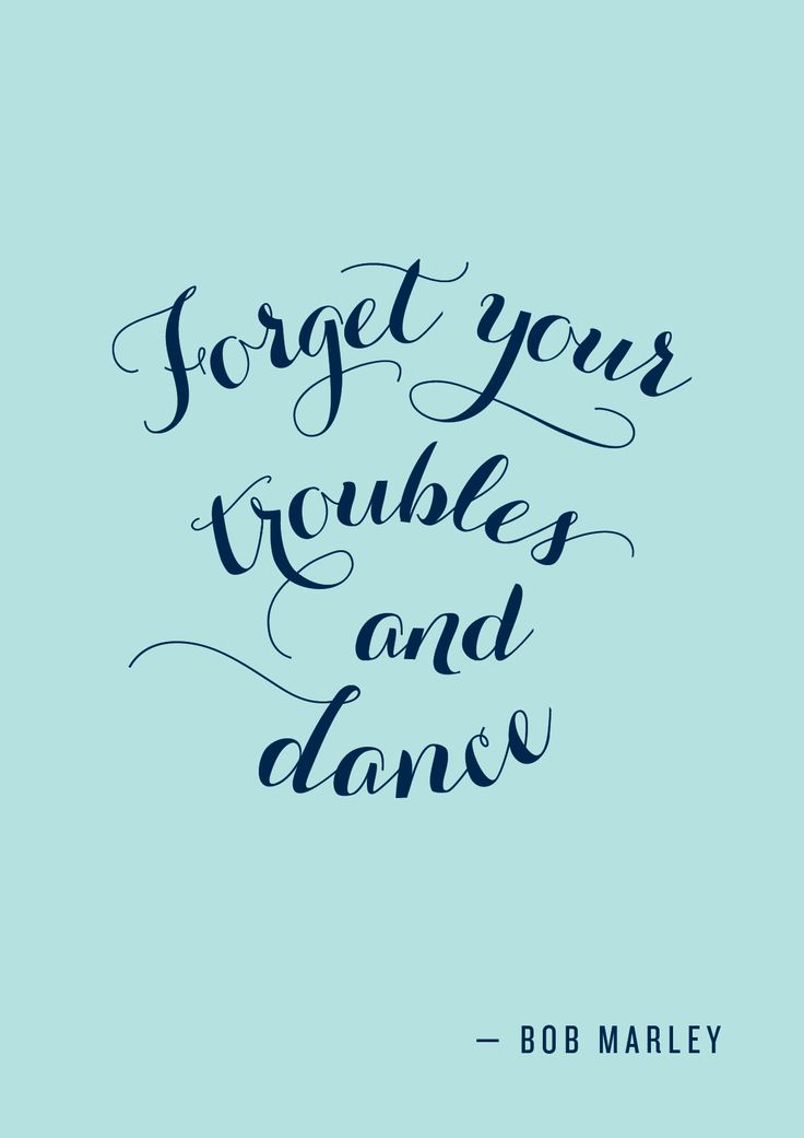 Forget Your Troubles and Dance - A custom piece we did earlier today. Yes, we accept Custom Typography Quote and Graphic Print orders :-) Get in touch with us via Etsy at http://thimbletypeco.etsy.com
