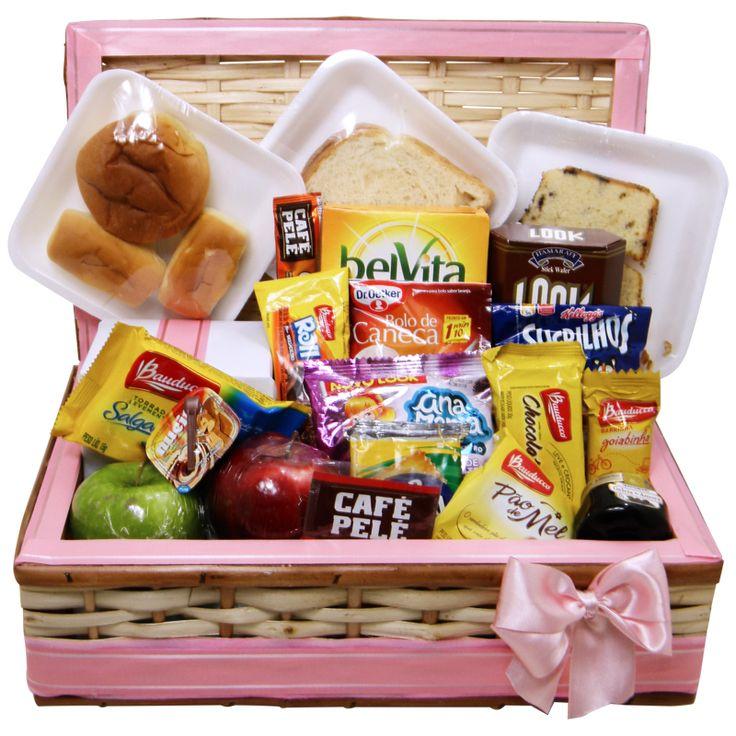 Cesta de Café da Manhã para o Dias das Mães Uma delícia cor de rosa para você enviar como presente para sua mãe.