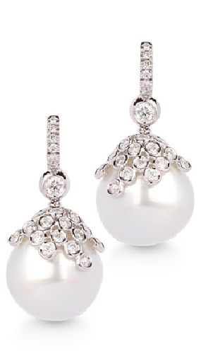 Pearl and Diamond Earrings                                                                                                                                                                                 More