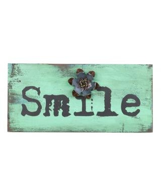 smile sign for above your front door, start everyday with a smile