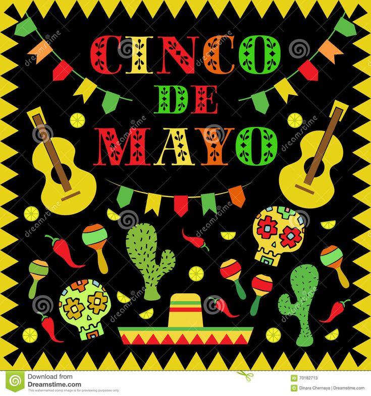 Mexican Holidays   Mexican Holidays Cinco De Mayo cinco de mayo mexican holiday vector ...