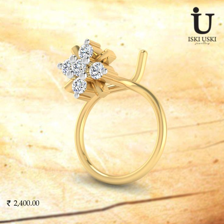 For any beautiful women on her special day, The Vivid Diamond Nose Pin.#DiamondNosePin #NosePin #GoldNosePin #IskiUski