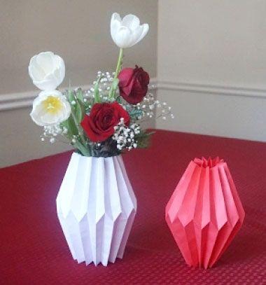 How to make a paper vase sleeve - easy geometric home decor // Geometrikus váza huzat egyszerűen papírból - filléres lakásdekoráció // Mindy - craft tutorial collection // #crafts #DIY #craftTutorial #tutorial #UpcyclingCraft  #TinCanCraft #Upcycling #RecyclingCraft