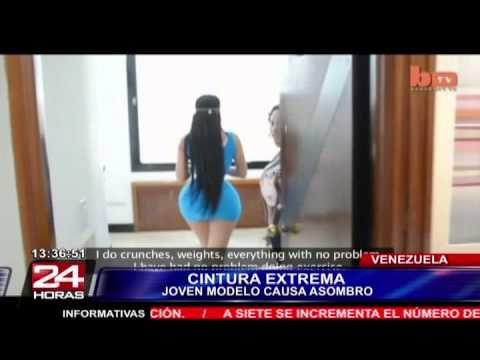 "Modelo venezolana causa sensación en todo el mundo por su ""micro cintura"""