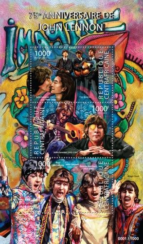 CA15319a 75th anniversary of John Lennon (John Lennon with Yoko Ono, The Beatles, Paul McCartney, John Lennon, George Harrison)