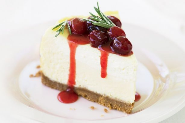 This wonderful festive cheesecake has Christmas colours and tastes sensational!