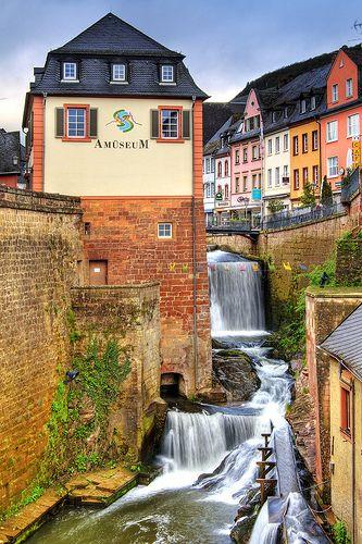 Germany. Saarburger Wasserfall