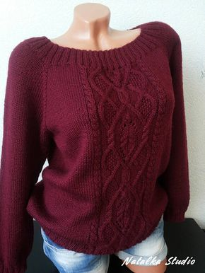 Knit Sweater Knitwear for women Hand Knitted Sweater Pullover