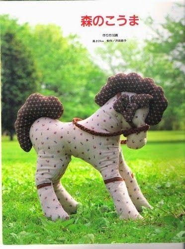 Artesanato.Revistas, Moldes e Dicas: Cavalo em tecido, com molde