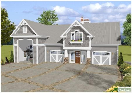 Rv Garage House Plans Balmer Carriage House Garage